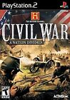 History Channel: Civil War -- A Nation Divided  (Sony PlayStation 2, 2006) ps2