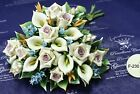 THE ITALIAN FAVORS PORCELAIN CENTERPIECE FROM ITALY IN USA CERAMIC FLOWERS IDEA