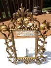ANTIQUE VICTORIAN METAL CAST PICTURE FRAME ORNATE  GOLD 12