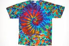 Adult TIE DYE Rainbow Spiral Blotter T Shirt 2X 3X 4X plus sizes hippie art tye