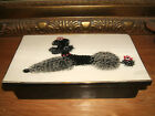 Vintage Hedi Schoop Poodle Dog Dresser Vanity Box - Black and White