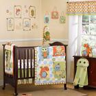 8p Colorful Spotted Striped T-Rex Dinosaur Egg Boy/Girl Crib Baby Bedding Set