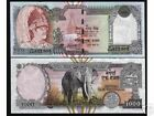 NEPAL 1000 RUPEES P44 2000 ELEPHANT KING UNC WORLD CURRENCY MONEY BILL BANK NOTE