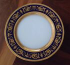 Antique Rare Theodore Haviland Limoges Cobalt & Heavy Gold Dinner Plate