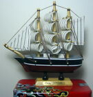 1x Antique 17th Century Wooden Folk Art Handbuilt Model Ship Sailing Vessel Toy