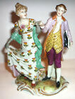 (1840-1884) DAMM FACTORY MARKED GERMAN PORCELAIN COUPLE ANTIQUE FIGURINE