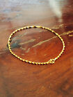 Gold-plated brass Anklet Chain Ankle Bracelet, Spiral style made in Thailand2