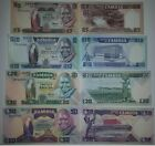 ZAMBIA 5-10-20-50 KWACHA 1986 SET 4 PCS , P.25,26,27,28 ALL UNCIRCULATED