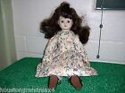 18 inch doll porcelain head hands feet black shoes floral dress black hair