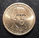 Thomas Jefferson 2007P Gold Dollar Clad Coin 3rd President Phil Circulated 507