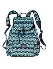 NWT VICTORIA'S SECRET PINK BACKPACK TOTE GYM SCHOOL BAG BLUE GREEN CHEVRON RARE