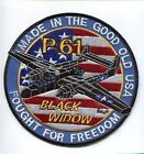 NORTHROP P-61 BLACK WIDOW WW2 ARMY AIR CORPS USAF NIGHT FIGHTER SQUADRON PATCH