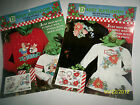 Daisy Kingdom No Sew Appliques, Christmas Bunnies, Snowdrop Wreath,  lot of 2