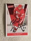 Detroit Red Wings Mike Modano Signed 10 11 UD Victory Card Auto