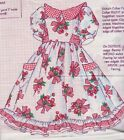 DAISY KINGDOM-DOLL DRESS PANEL-VINTAGE CHERRIES RED-100% COTTON