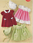 SEWING PATTERN Vintage 50's Style Baby Dresses Bonnet Girl Clothes Clothing