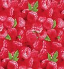 Quilt Fabric Elizabeth's Studio Food Fruit Berry Good Raspberries FREE SHIPPING