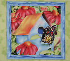 Symphony of Spring Butterfly panel fabric square quilt
