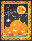 Halloween Happy Howl-o-ween (B) panel fabric square quilting quilt block Moda