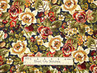 Rosetree Cottage Fabric ~ 100% Cotton By The Yard ~ Studio E Floral Blue E601077