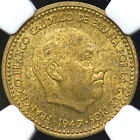 1947(54) NGC MS-61 ONE 1 PESETA SPAIN
