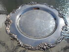 Reed and & Barton King Francis Round Silver Plated Tray NEW