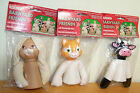 1995 Fibre-Craft Barnyard Friends Air Freshener Dolls - Cat, Rabbit