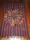 BEAUTIFUL WOVEN EMBOIDERED TABLECLOTH WALL HANGING RUNNER RUG GUATEMALA LATIN