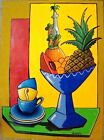 Still-life Oil Painting on Paper by Cuban Artist Navarrete