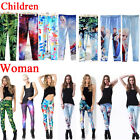 Parent-child outfit anime theme Print Skinny Leggings Kids + Adult elastic Pants