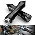 2x Black Billet Tribal Spike Hand Grip For Honda 7/8