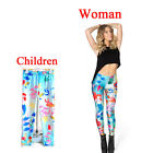 Parent-child outfit The little mermaid Print Leggings Kids  + Adult Tights Pants