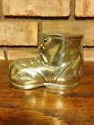 ANTIQUE / VINTAGE POLISHED METAL / CHROME SHOE / BOOT PIGGY COIN BANK HALLMARK