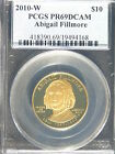 First Spouse Series Abigail Fillmore 2010W PCGS PR69DCAM $10 Gold Proof Coin #68