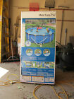 Used 15 Intex Swimming Pool Above Ground Metal Frame Ladder Automatic Filter