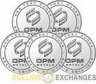 Lot of 5 - 1 oz .999 Fine Silver OPM Rounds