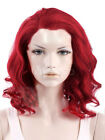 Red wine Medium Side Parting Heat-resistant Fiber Quality Women's Wig