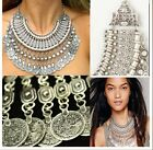 Authentic Free People Jewelry Antalya Wild Child Coin Silver Boho Necklace New