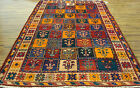 ANTIQUE COLLECTIBLES PERSIAN TRIBAL BAKHTIAR TILE GARDEN DESIGN AREA RUG 8-8X5-1