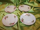 Vintage Moss Rose~4 Matching~ Bread Plates~ 6 Inch Diameter~Tea Party