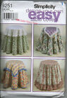 SIMPLICITY SEWING PATTERN 9251 DESIGN YOUR OWN TABLE COVERS USED UNCUT