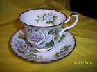 E & R Golden Crown Bone China Cup & Saucer ROSE QUEEN SERIES