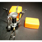 New Ultralight Backpacking Canister Camp Camping Stove Burner & Piezo Ignition
