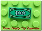 NEW Lego Minifig Green Money 1x2 TILE 100 pattern Pirate Castle Ninjago Treasure