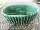Vintage Hull Pottery Green Ribbed Planter-Imperial Line-c. 1960's-FREE SHIPPING