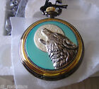 Franklin Mint Howling Wolf Pocket watch Brand New
