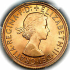 1959 QUEEN ELIZABETH II GREAT BRITAIN GOLD SOVEREIGN COIN PCGS MS65