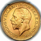 1929 SA KING GEORGE V SOUTH AFRICA GOLD SOVEREIGN COIN PCGS MS65