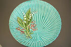 MAJOLICA ART NOUVEAU SCHRAMBERG LILY OF THE VALLEY HOLLOW LARGE  PLATE CHARGER