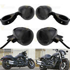 18 Amber LED Black Smoke Front Rear Turn Signal Set For Bike Motorcycle Honda